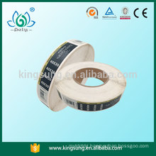 Latest design new product sticker label printing OEM garment label
